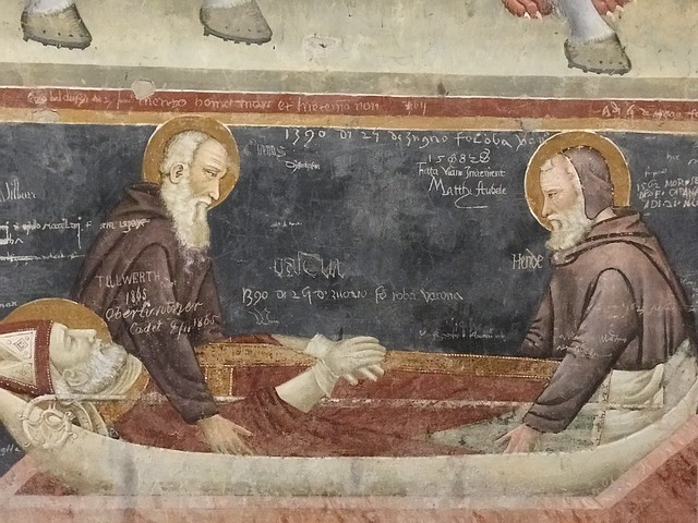 San Zeno Fresco (notice the old school graffiti)