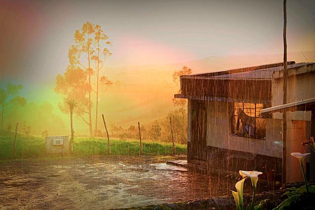 Tarde de lluvia y sol.