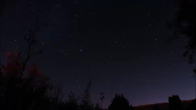 2 Hour Star Trails Timelapse Video 12/11/17