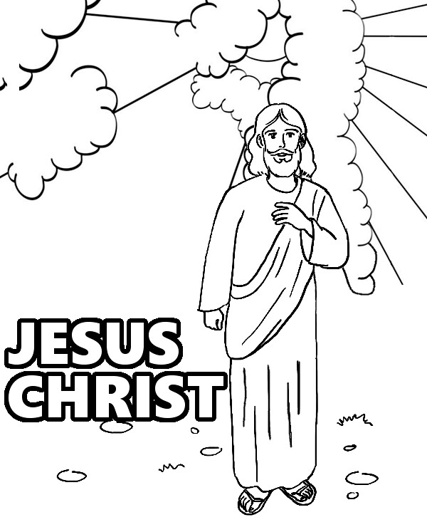 Jesus Christ on coloring pages | Jesus Christ on free, print… | Flickr