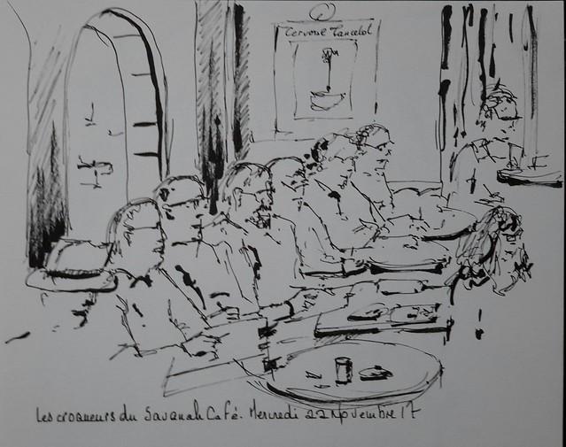 Les croqueurs croqués  au Savanah Café
