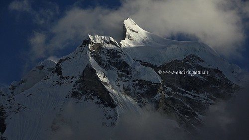 Partly clouded, sunny Kangtega peak | by wanderingjatin