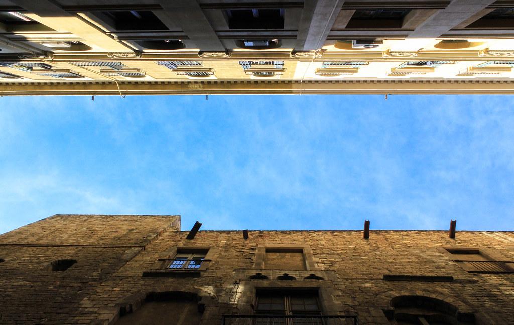 Barcelona blue sky