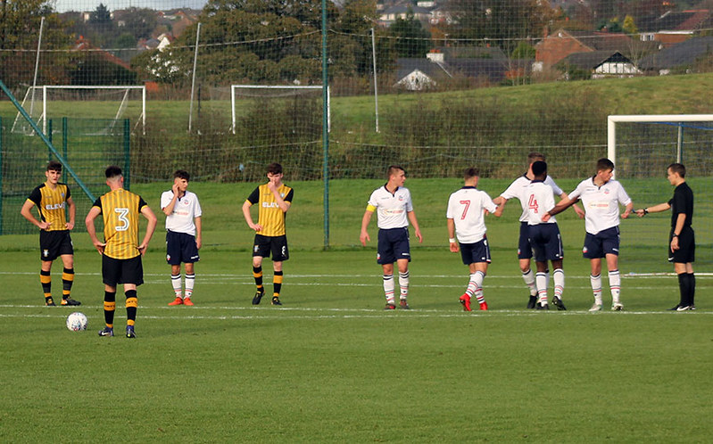 Joe West lines up a free-kick for Wednesday