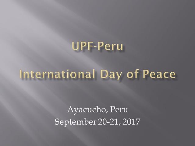 Peru-2017-09-21-International Day of Peace Observed in Peru