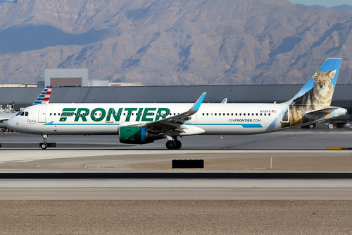 frontier frontierairlines fft f9 airbus a321 airbusa321 sharklets aircraft airplane airport plane planespotting lasvegas klas las n715fr canon 7d 100400