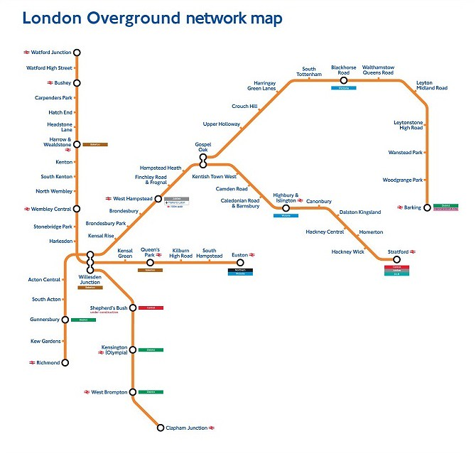 Transport For London Map.London Overground Network Map 2007 Transport For London Press