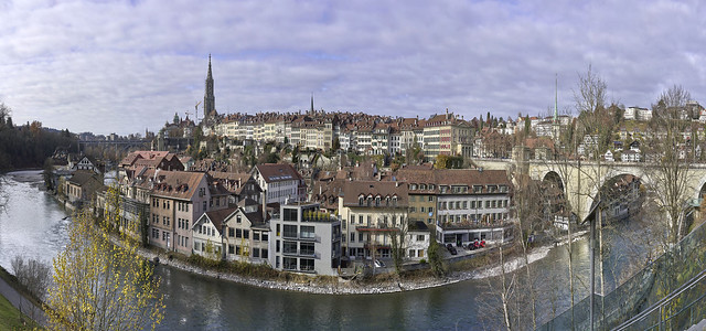 The city of Bern and the river Aare