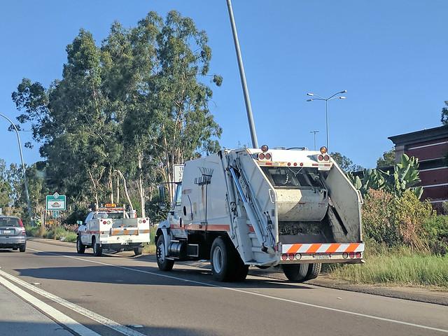 Caltrans Garbage Truck 10-12-17