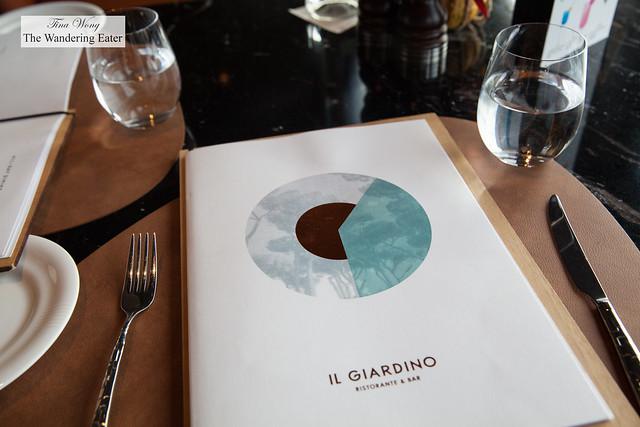 Il Giardino menu
