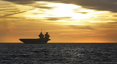 HMS QUEEN ELIZABETH departs Portsmouth for sea trials | by QEClassCarriers