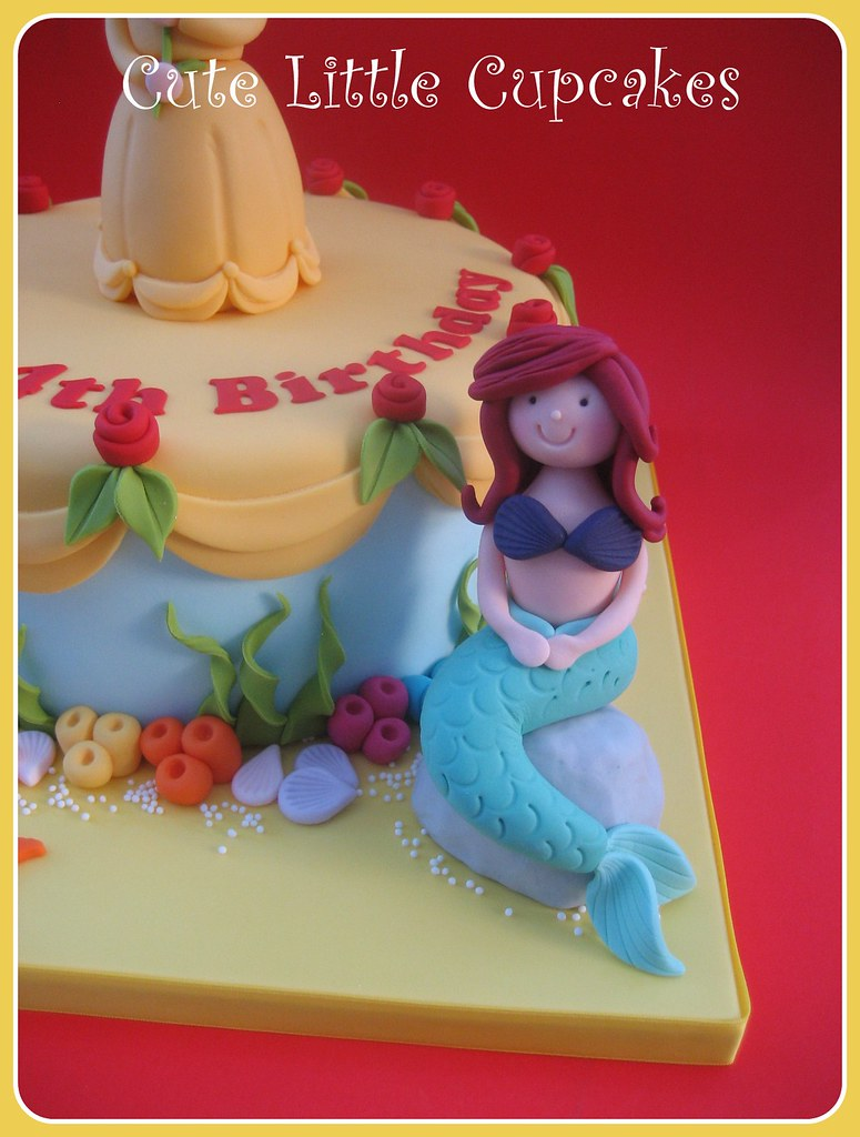 Enjoyable Belle Ariel Birthday Cake A Photo On Flickriver Personalised Birthday Cards Bromeletsinfo