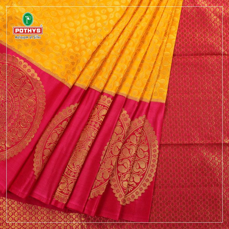 Buy Kanchipuram Silk Sarees Online at Pothys!   Buy Kanjeeva