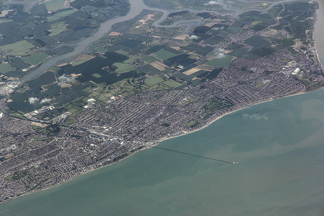 Southend-on-Sea, Essex, UK, seen from the air