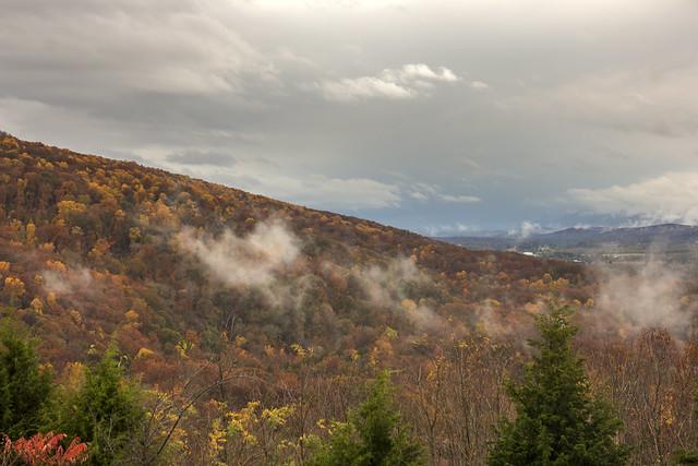 Fall colors, Cumberland Escarpment, Henson Gap overlook, Sequatchie County, Tennessee 2