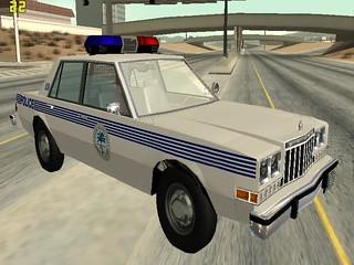 Dodge Diplomat 1985 Miami Metro Police   Policemods Skin edition