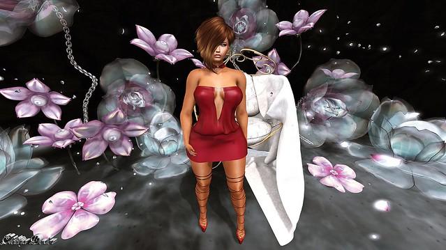 BY KC - Gabriela Dress & Claire Platforms & -Desmonia- Connie Hair & Supernatural - My Diamonds - Event - The Gacha Garden