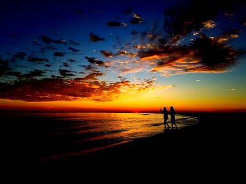 sunset skyporn cloudporn surf shoreline clouds samsung galaxys7 pensacola florida silhouette