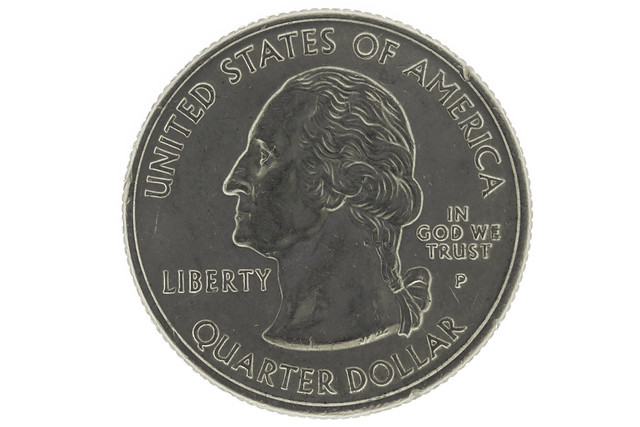 Quarter with lit background