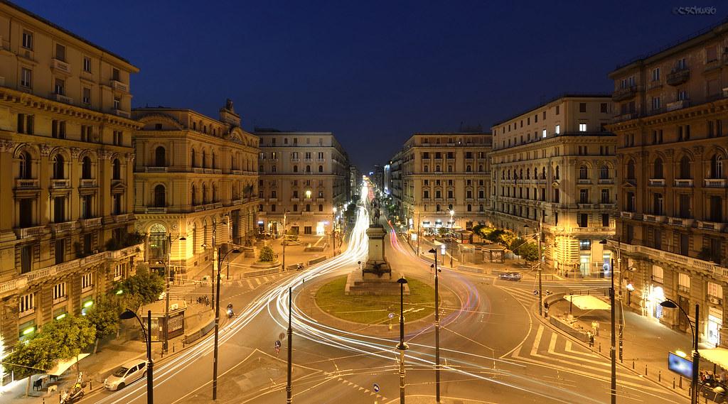 Piazza Giovanni Bovio, Napoli | shot from the reception of t