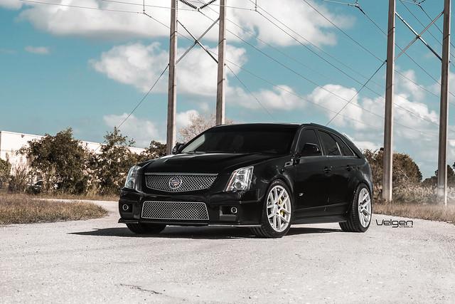 Cadillac CTS-V Wagon on Velgen Wheels VMB5 Matte Silver 19x9 & 19x10.5