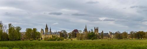 panorama oxford great britain england college christ church merton himmel sky landschaft landscape