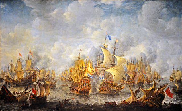The Battle of Terheide, Jan Abrahamsz Beerstraten (1622-1666)