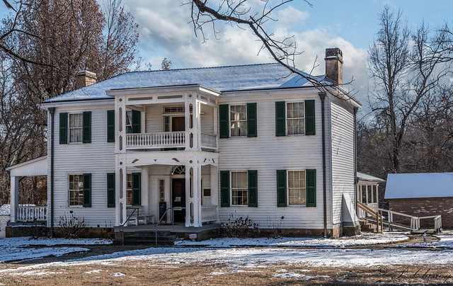 Murrell House Tahlequah, Ok with snow melting