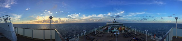 Panoramic Sunset at Sea