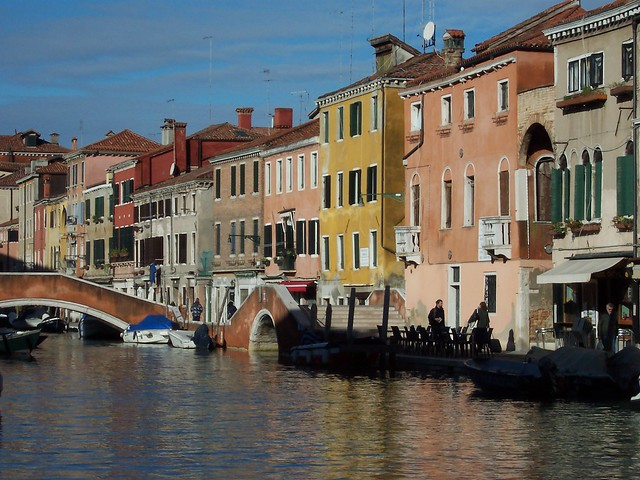 Venice, canalside view from the waterbus