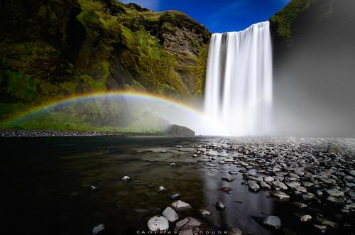empyrean skógafoss heavenly waterfall skógariver river iceland longexposure longexposurejunkie cliffs cataract 63°31′47n19°30′50w