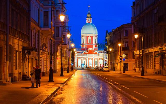 White Nights in Saint Petersburg, Russia