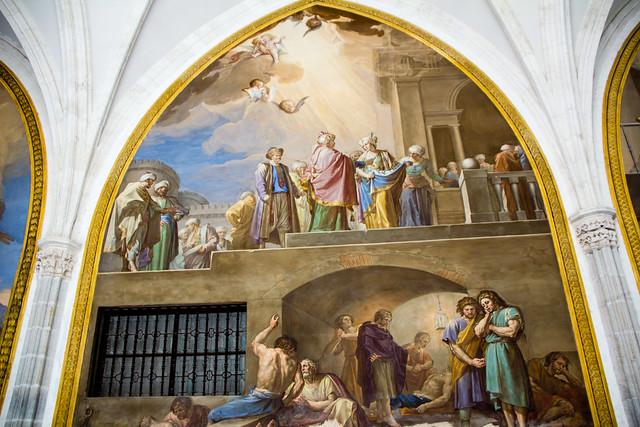 La delacion de Santa Casilda de Francisco Bayeu pintura Claustro Catedral de Toledo