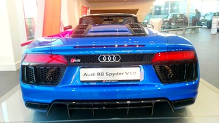 The New Audi R8 Spyder V10 yours for only 260000€ in the new Audi Centre,Sandyford Business Park,Dublin.