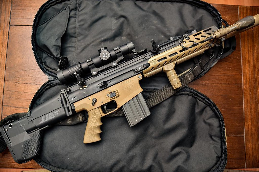 FN HERSTAL SCAR 17 SBR SUREFIRE leupoldoptics Mk6 1-6, kni