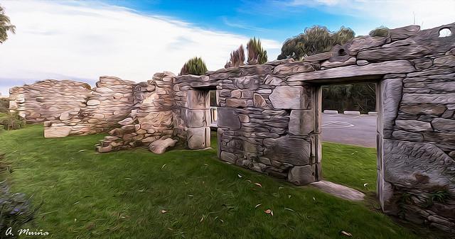 Ruins of an old military settlement in A Coruña (Spain). Ruinas de un viejo asentamiento militar en A Coruña (España)