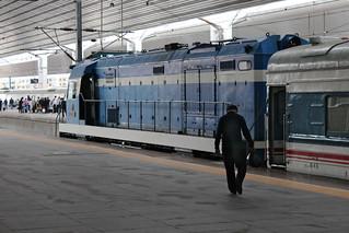 Train to Pyongyang at Dandong train station | by Timon91