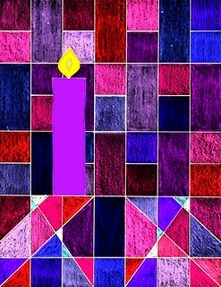 Advent 1 candle