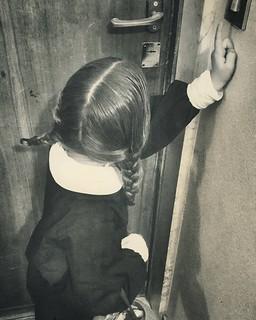 Trick or treat #Halloween #costume #addamsfamily #mybabygirl #margherita #wednesdayaddams #fun #life #home #family #funny #retro #sepia #blackandwhite #vintage #igers #igersitalia #igersmilano #followme | by Mario De Carli