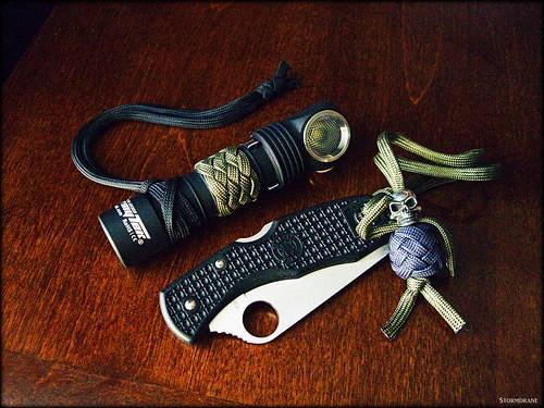 ArmyTek and Spyderco with knot work... | by Stormdrane
