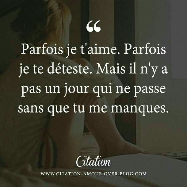 Citation D Amitie A Distance Parfois Je T 39 Aime Par Flickr