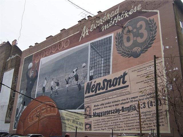 Mural of Hungary's famous football victory over England