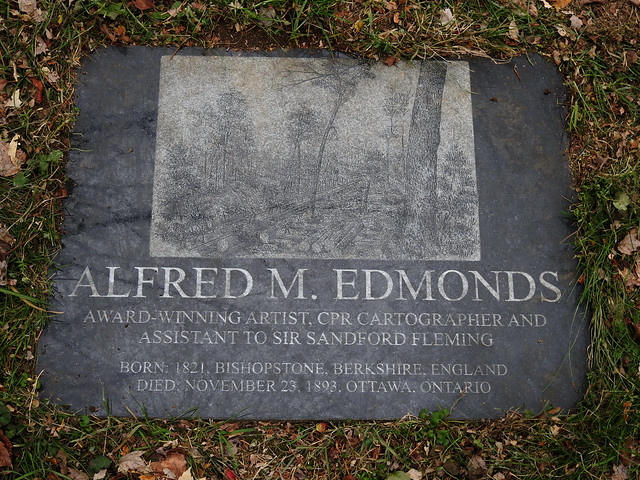 Final resting place of Alfred M. Edmonds in Beechwood Cemetery in Ottawa, Ontario
