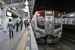 郡山~会津若松間は電車が走っており、本数も多い