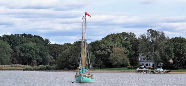 Green Sailboat