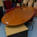 Cherry large oval boardroom table E400