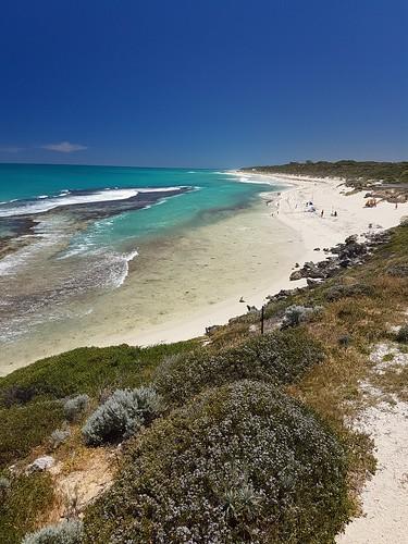 yanchep lagoon beach water westernaustralia landscape indianocean currents emerald sand