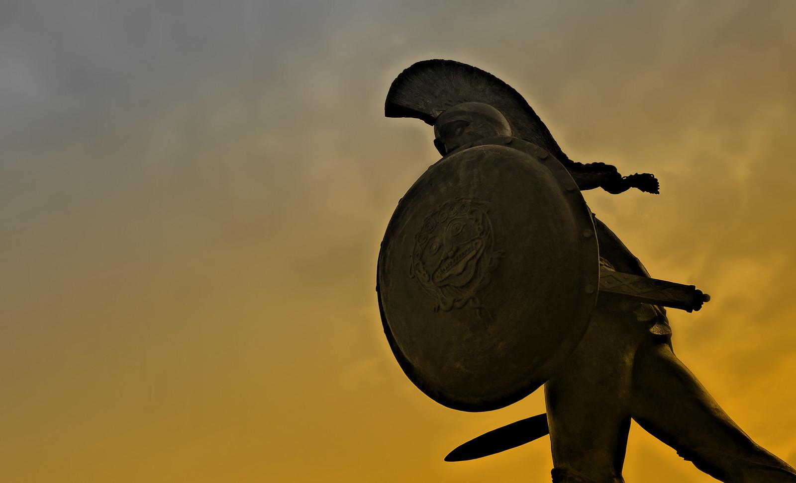 This is Sparta_King Leonidas Statue_Sparti