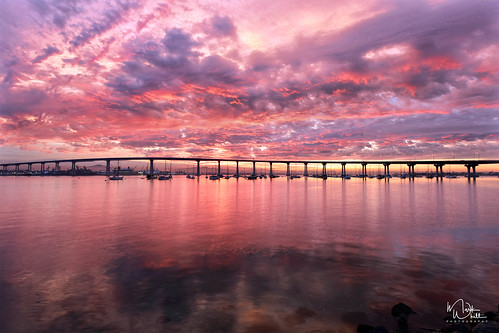 markwhitt markwhittphotography sandiego coronado coronadobridge coronadobaybridge sandiegocoronadobaybridge bridge bayviewpark usa bay water wet reflections clouds colors colorful nature landscape scenic scenery travel adventure outdoors vacation sunrise dramatic dream early morning