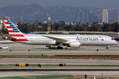 american americanairlines aal aa boeing 787 7879 boeing787 boeing7879 dreamliner aircraft airplane airport plane planespotting losangeles klax lax n825aa oneworld canon 7d 100400